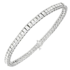 18567119c7e7 Redondo Brillante Corte Diamante Tenis Brazalete 5 Kilates 14k Oro