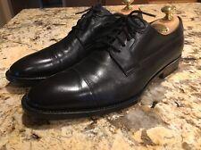 Gucci Men's Black Cap Toe Oxfords Dress Shoes 8 D EUC