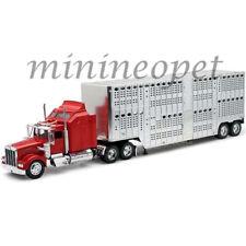 NEW RAY 10783 KENWORTH W900 LIVESTOCK TRAILER 1/32 RED