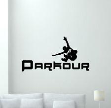 Parkour Poster Wall Decal Extreme Sport Vinyl Sticker Gym Decor Art Mural 56hor