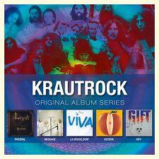 KRAUTROCK - ORIGINAL ALBUM SERIES 5 CD 43 TRACKS  NEW+ PARZIVAL/ASTERIX/GIFT/+