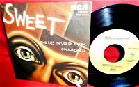 THE SWEET The lies in your eyes / Cockroach 45rpm 7' + PS 1976 ITALY MINT-