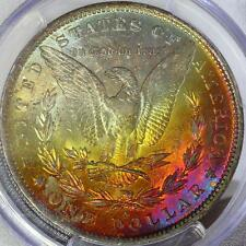 1883-O MORGAN DOLLAR PCGS MS 62, BEAUTIFUL TONING ON REVERSE!!