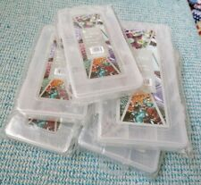 Set 5 Plastic Storage Boxes Multi Compartment Crafting Jewellery Card Making