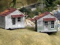 BAR MILLS BUILDINGS 702 HO TWIN UTILITY SHEDS 2 PACK Model Railroad FREE SHIP
