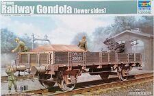 TRUMPETER GERMAN RAILWAY GONDOLA LOWER SIDES Scala 1:35 Cod,01518