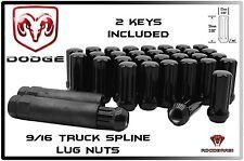 20 Pc Dodge Ram 1500 Black Spline Lug Nuts 2