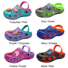 Girls Boys Cute Clogs Sandals Kids Slip On Slippers Summer Cartoon Water Shoes