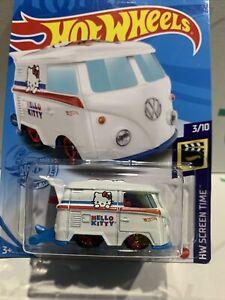 Hot Wheels VW Kool Kombi [Hello Kitty] 2021 -38/250  New/Sealed/XHTF 3/10 !!!!!!
