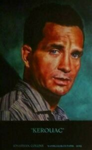 JACK KEROUAC 50TH  ANNIVERSARY PORTRAIT LARGE POSTER SIGNED BY THE ARTIST