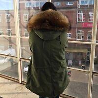 luxus Parka pelz xxl waschbär raccoon echtpelz fur fell winter jacke