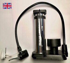 Foot pump with pressure gauge, aluminium, UK seller, Bike pump, cycle pump