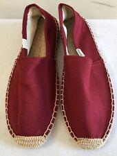 NWOB $42 SOLUDOS Dali Maroon Canvas Espadrille Flats Shoes Size 9