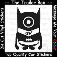 DESPICABLE ME BAT MINION Funny Car/Window JDM VW VAG EURO Vinyl Decal Sticker