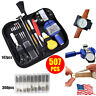 147pcs Watch Repair Tool Kit Watchmaker Back Case Opener Remover Spring Pin Bars
