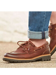 Clarks Men's Shoes - Batcombe Sail Derbys, Dark Tan Leather, UK Size 11 G EU 46