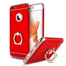 coque housse luxe iPhone 7 Plus en plastic/aluminium rouge avec anneau intégré