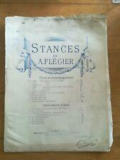 Ancienne Partition - Stances - A Flégier - N°4 Chant et piano