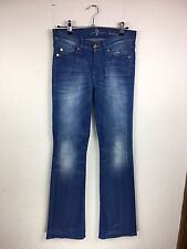 "Seven 7 for all Mankind blue bootcut faded stretch Jeans Size 26 UK 8 L32"" (ZT)"