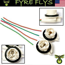 3156 Bulb Socket Brake Turn Signal Light Harness Wire LED Pig Tail Plug GM