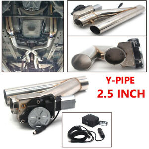 """2.5"""" Patented Electric Exhaust Downpipe Cutout E-Cut Out Dual-Valve Remote Kits"""
