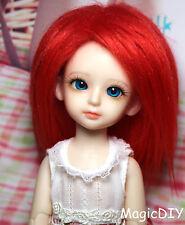 "5-6"" 14cm BJD doll fabric fur wig Red wig bjd hair for 1/8 bjd dolls"