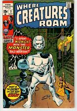 WHERE CREATURES ROAM #2 1970 DITKO ART MARVEL BRONZE AGE!