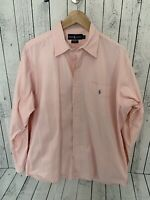 POLO RALPH LAUREN BLAKE Men's Long Sleeve Button Front Shirt Pink Size Large S2