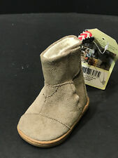 Toms Tiny Nepal Kids Baby Boots Suede Sand Color Sherpa Lining Size US 2 New