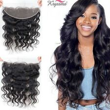 "8"" Lace Frontal Closures 13x4 Body Wave Indian Remy Virgin Human Hair Ear To Ear"
