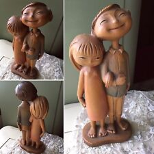 RETIRED ANRI Large Statue Ethnic Young Asian Couple In Love By SIEGFRIED HAFNER