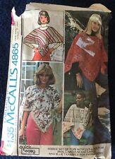Vintage 70s Boho Gypsy Handkerchief Tops & Transfer Pattern 10-20~McCalls 4865