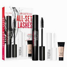 smashbox all set lashes full exposure mascara + lash primer + eye primer new
