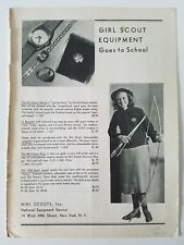 1937 Girl Scouts National Equipment service archery bow arrows watch pin ring ad