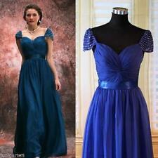 Ärmellose Damenkleider mit Wasserfall Abendkleid-Stil