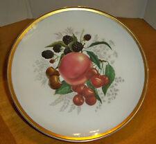 Vintage Westerling Bavaria Germany Fruit Collector Plate Gold Trim
