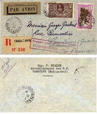 Lettre par Avion 1er vol Régulier Madagascar Europe 27 Juillet 1934