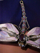 Dragon Fly ~ Purple Enamel Jewel Box #3749Pu