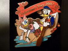 Disney Pin 9923: Valentine's Day 2002 Donald Daisy LE  NEW 3D Row Boat Movement