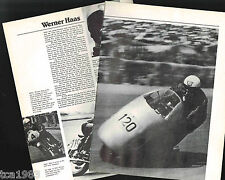 Old WERNER HAAS MOTORCYCLE Racing Article / Pictures / Photo's: NSU,