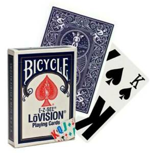 """Bicycle """"E-Z-See LoVISION"""" Playing Cards Sealed New In Box """"BLUE"""" USA SHIPS FREE"""