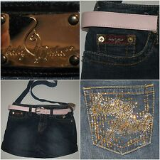 Baby Phat Purse Denim Factory Faded Cross Body Upcycled Shoulder Bag Bling