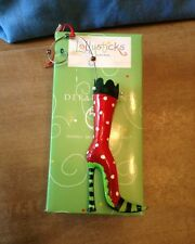 LOLLYSTICKS Department 56 High Heel Stocking Shoe Ornament By Kym Bowles