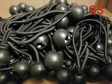 "9""  25 pcs Black ball bungee bungie cord heavy duty canopy tarp tie downs GS New"