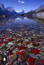 Glacier National Park Poster, Glacial Lake, Mountains, Nature, Montana, Canada