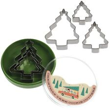 dotcomgiftshop SET OF 3 CHRISTMAS TREE COOKIE CUTTERS