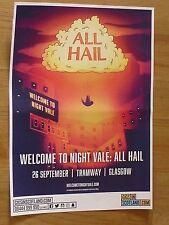 All Hail - Night Vale - Glasgow sept.2017 show tour concert gig poster