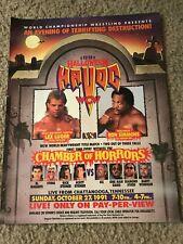 Vtg 1991 WCW HALLOWEEN HAVOC Poster Print Ad STING DIAMOND STUDD OZ LEX LUGER