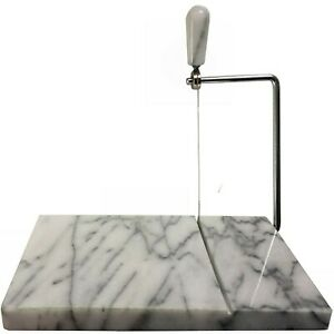 """Marble Cheese Slicer Board with spare wire,cutter slice tool 20.5x 13cm (5 x 8"""")"""