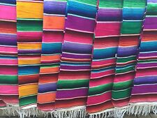 "Medium Mexican Sarape Sarapes Saltillo Serapes Blanket Bed Cover 48"" x 80"""